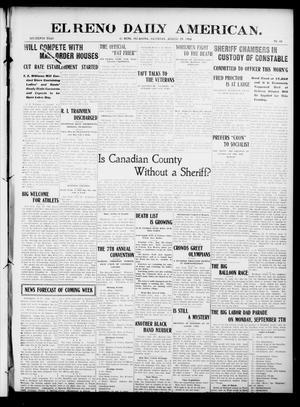 Primary view of El Reno Daily American. (El Reno, Okla.), Vol. 16, No. 40, Ed. 1 Saturday, August 29, 1908