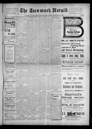 Primary view of object titled 'The Tecumseh Herald. (Tecumseh, Okla. Terr.), Vol. 5, No. 49, Ed. 1 Saturday, September 12, 1896'.