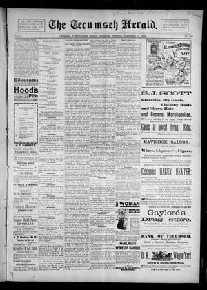 Primary view of object titled 'The Tecumseh Herald. (Tecumseh, Okla. Terr.), Vol. 5, No. 50, Ed. 1 Saturday, September 19, 1896'.
