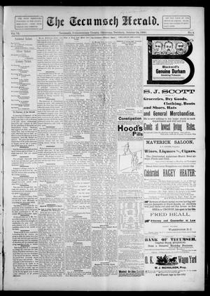 Primary view of object titled 'The Tecumseh Herald. (Tecumseh, Okla. Terr.), Vol. 6, No. 3, Ed. 1 Saturday, October 24, 1896'.