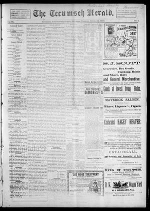 Primary view of object titled 'The Tecumseh Herald. (Tecumseh, Okla. Terr.), Vol. 6, No. 4, Ed. 1 Saturday, October 31, 1896'.