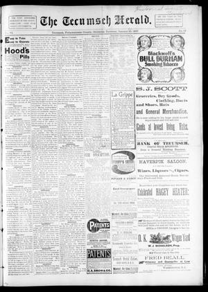 Primary view of object titled 'The Tecumseh Herald. (Tecumseh, Okla. Terr.), Vol. 6, No. 17, Ed. 1 Saturday, January 30, 1897'.