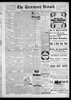Primary view of object titled 'The Tecumseh Herald. (Tecumseh, Okla. Terr.), Vol. 6, No. 19, Ed. 1 Saturday, February 13, 1897'.