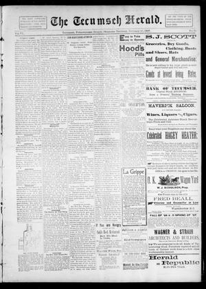 Primary view of object titled 'The Tecumseh Herald. (Tecumseh, Okla. Terr.), Vol. 6, No. 20, Ed. 1 Saturday, February 20, 1897'.
