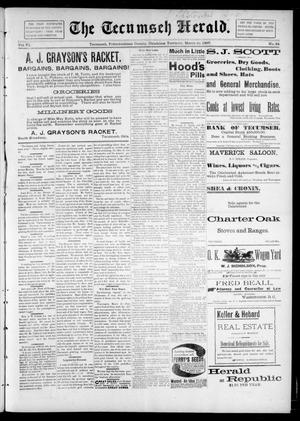 Primary view of object titled 'The Tecumseh Herald. (Tecumseh, Okla. Terr.), Vol. 6, No. 24, Ed. 1 Saturday, March 20, 1897'.
