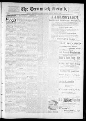 Primary view of object titled 'The Tecumseh Herald. (Tecumseh, Okla. Terr.), Vol. 6, No. 25, Ed. 1 Saturday, March 27, 1897'.