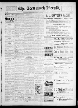 Primary view of object titled 'The Tecumseh Herald. (Tecumseh, Okla. Terr.), Vol. 6, No. 27, Ed. 1 Saturday, April 10, 1897'.