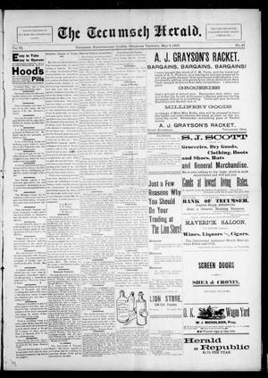 Primary view of object titled 'The Tecumseh Herald. (Tecumseh, Okla. Terr.), Vol. 6, No. 31, Ed. 1 Saturday, May 8, 1897'.