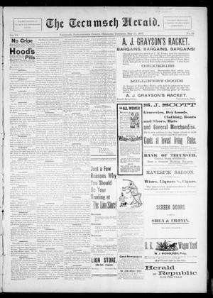 Primary view of object titled 'The Tecumseh Herald. (Tecumseh, Okla. Terr.), Vol. 6, No. 32, Ed. 1 Saturday, May 15, 1897'.