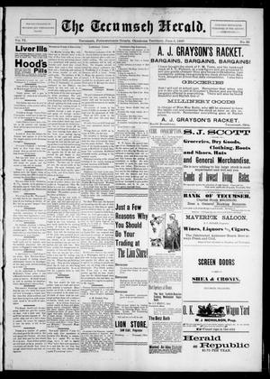 Primary view of object titled 'The Tecumseh Herald. (Tecumseh, Okla. Terr.), Vol. 6, No. 35, Ed. 1 Saturday, June 5, 1897'.