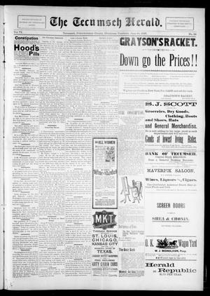 Primary view of object titled 'The Tecumseh Herald. (Tecumseh, Okla. Terr.), Vol. 6, No. 38, Ed. 1 Saturday, June 26, 1897'.