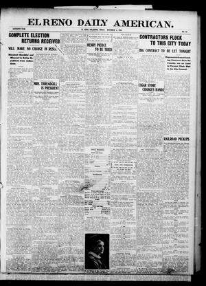 Primary view of object titled 'El Reno Daily American. (El Reno, Okla.), Vol. 16, No. 99, Ed. 1 Friday, November 6, 1908'.