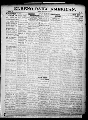 Primary view of object titled 'El Reno Daily American. (El Reno, Okla.), Vol. 16, No. 110, Ed. 1 Thursday, November 19, 1908'.
