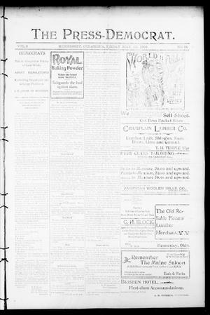Primary view of object titled 'The Press-Democrat. (Hennessey, Okla.), Vol. 8, No. 34, Ed. 1 Friday, May 25, 1900'.