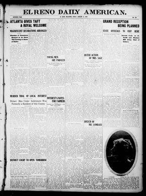 Primary view of object titled 'El Reno Daily American. (El Reno, Okla.), Vol. 16, No. 158, Ed. 1 Friday, January 15, 1909'.