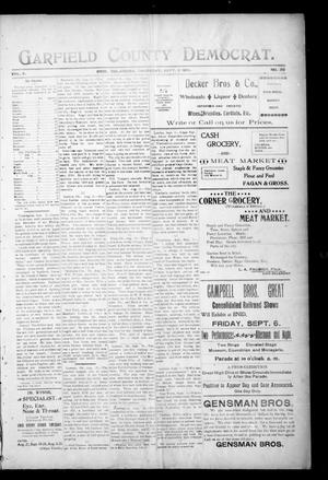 Primary view of object titled 'Garfield County Democrat. (Enid, Okla.), Vol. 4, No. 39, Ed. 1 Thursday, September 5, 1901'.