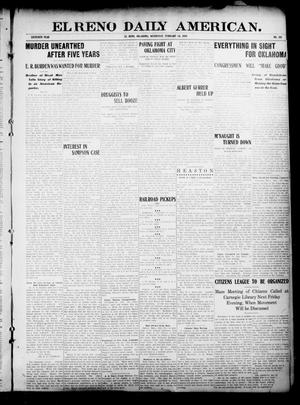 Primary view of object titled 'El Reno Daily American. (El Reno, Okla.), Vol. 16, No. 192, Ed. 1 Wednesday, February 24, 1909'.