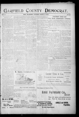 Primary view of object titled 'Garfield County Democrat. (Enid, Okla.), Vol. 5, No. 10, Ed. 1 Thursday, March 6, 1902'.