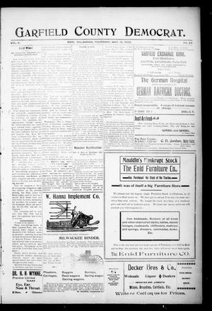 Primary view of object titled 'Garfield County Democrat. (Enid, Okla.), Vol. 5, No. 20, Ed. 1 Thursday, May 15, 1902'.