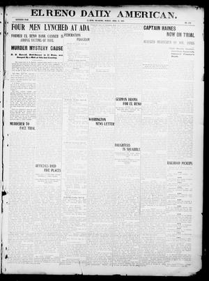 Primary view of object titled 'El Reno Daily American. (El Reno, Okla.), Vol. 16, No. 238, Ed. 1 Monday, April 19, 1909'.