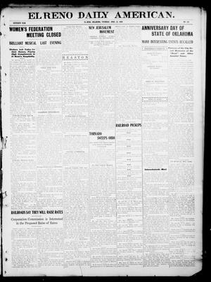 Primary view of object titled 'El Reno Daily American. (El Reno, Okla.), Vol. 16, No. 241, Ed. 1 Thursday, April 22, 1909'.