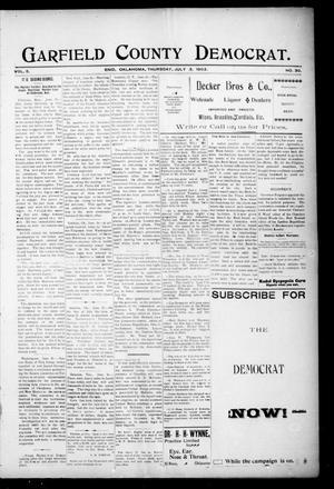 Primary view of Garfield County Democrat. (Enid, Okla.), Vol. 5, No. 27, Ed. 1 Thursday, July 3, 1902