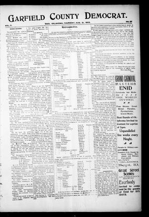 Primary view of object titled 'Garfield County Democrat. (Enid, Okla.), Vol. 5, No. 34, Ed. 1 Thursday, August 21, 1902'.