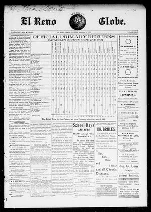 Primary view of object titled 'El Reno Weekly Globe. (El Reno, Okla.), Vol. 9, No. 25, Ed. 1 Friday, September 5, 1902'.