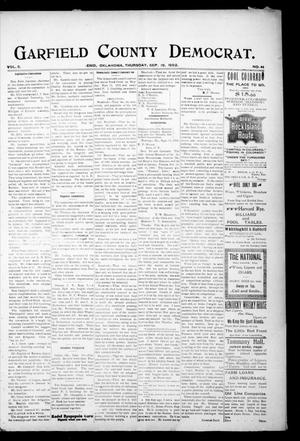 Primary view of object titled 'Garfield County Democrat. (Enid, Okla.), Vol. 5, No. 38, Ed. 1 Thursday, September 18, 1902'.