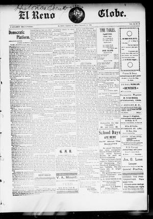 Primary view of object titled 'El Reno Weekly Globe. (El Reno, Okla.), Vol. 9, No. 27, Ed. 1 Friday, September 19, 1902'.