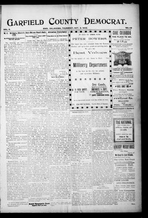 Primary view of object titled 'Garfield County Democrat. (Enid, Okla.), Vol. 5, No. 40, Ed. 1 Thursday, October 2, 1902'.