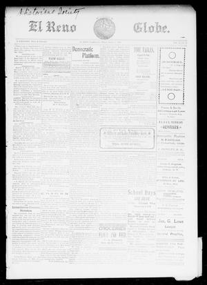 Primary view of object titled 'El Reno Weekly Globe. (El Reno, Okla.), Vol. 9, No. 29, Ed. 1 Friday, October 3, 1902'.