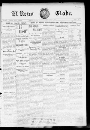 Primary view of object titled 'El Reno Weekly Globe. (El Reno, Okla.), Vol. 10, No. 4, Ed. 1 Friday, April 10, 1903'.