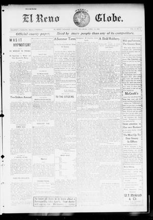 Primary view of object titled 'El Reno Weekly Globe. (El Reno, Okla.), Vol. 10, No. 6, Ed. 1 Friday, April 24, 1903'.