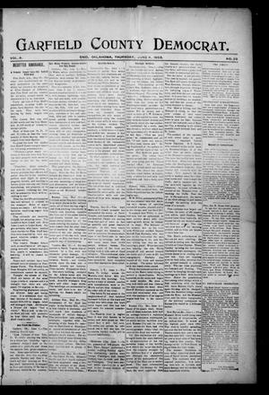 Primary view of object titled 'Garfield County Democrat. (Enid, Okla.), Vol. 6, No. 26, Ed. 1 Thursday, June 4, 1903'.