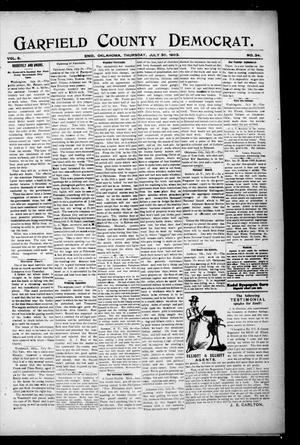 Primary view of object titled 'Garfield County Democrat. (Enid, Okla.), Vol. 6, No. 34, Ed. 1 Thursday, July 30, 1903'.