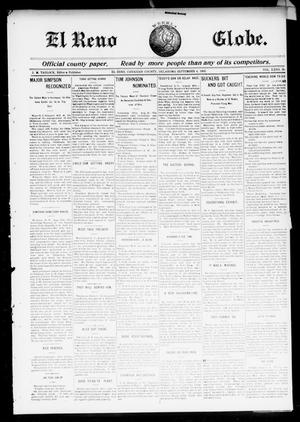 Primary view of object titled 'El Reno Weekly Globe. (El Reno, Okla.), Vol. 10, No. 26, Ed. 1 Friday, September 4, 1903'.