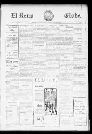 Primary view of object titled 'El Reno Weekly Globe. (El Reno, Okla.), Vol. 10, No. 41, Ed. 1 Friday, December 18, 1903'.