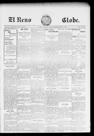 Primary view of object titled 'El Reno Weekly Globe. (El Reno, Okla.), Vol. 10, No. 52, Ed. 2 Friday, March 11, 1904'.
