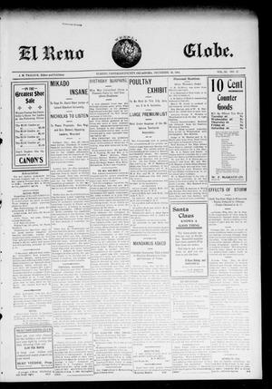 Primary view of object titled 'El Reno Weekly Globe. (El Reno, Okla.), Vol. 11, No. 42, Ed. 1 Friday, December 30, 1904'.