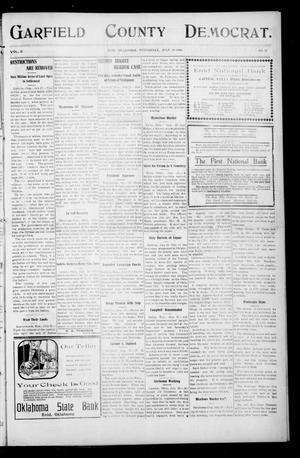 Primary view of object titled 'Garfield County Democrat. (Enid, Okla.), Vol. 11, No. 37, Ed. 1 Wednesday, July 29, 1908'.