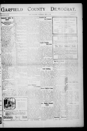 Primary view of object titled 'Garfield County Democrat. (Enid, Okla.), Vol. 11, No. 44, Ed. 1 Wednesday, September 16, 1908'.
