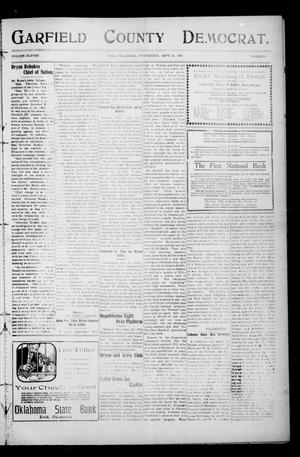 Primary view of object titled 'Garfield County Democrat. (Enid, Okla.), Vol. 11, No. 45, Ed. 1 Wednesday, September 23, 1908'.