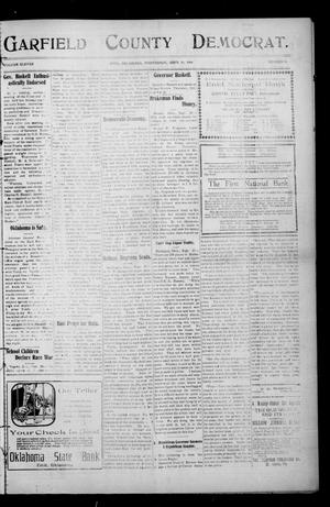 Primary view of object titled 'Garfield County Democrat. (Enid, Okla.), Vol. 11, No. 46, Ed. 1 Wednesday, September 30, 1908'.