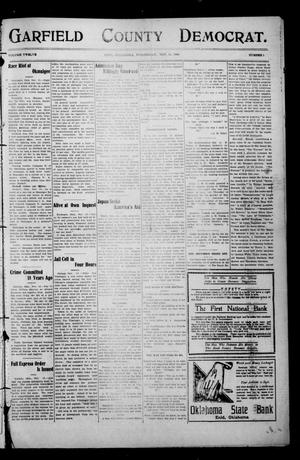 Primary view of object titled 'Garfield County Democrat. (Enid, Okla.), Vol. 12, No. 1, Ed. 1 Wednesday, November 18, 1908'.
