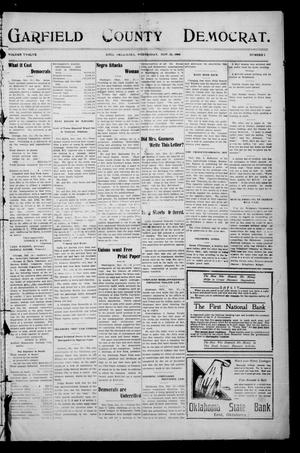 Primary view of object titled 'Garfield County Democrat. (Enid, Okla.), Vol. 12, No. 2, Ed. 1 Wednesday, November 25, 1908'.