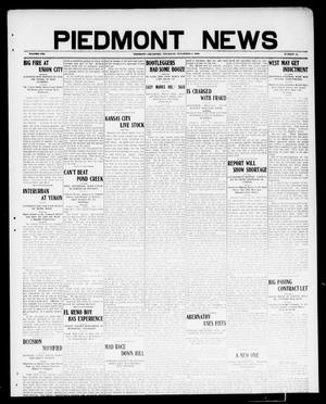 Primary view of object titled 'Piedmont News (Piedmont, Okla.), Vol. 1, No. 41, Ed. 1 Thursday, November 4, 1909'.