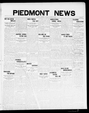 Primary view of object titled 'Piedmont News (Piedmont, Okla.), Vol. 1, No. 43, Ed. 1 Thursday, November 18, 1909'.