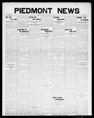 Primary view of object titled 'Piedmont News (Piedmont, Okla.), Vol. 1, No. 45, Ed. 1 Thursday, December 2, 1909'.