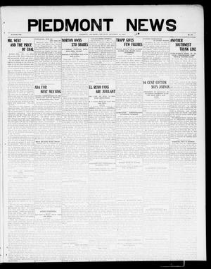 Primary view of object titled 'Piedmont News (Piedmont, Okla.), Vol. 1, No. 47, Ed. 1 Thursday, December 16, 1909'.